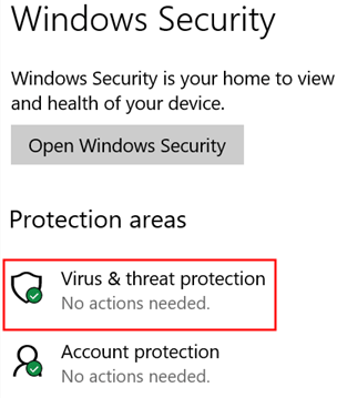 Window Security Virus And Threat Protection Min