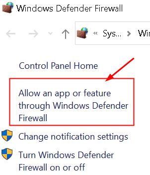 Windows Firewall Allow App Min