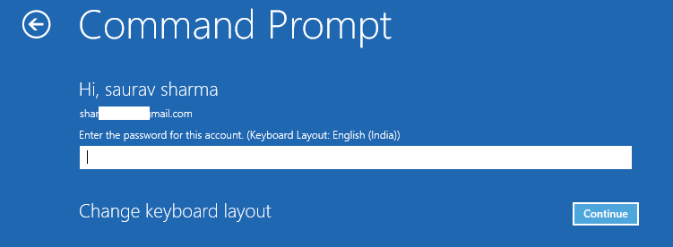 Command Prompt Startup Repair Options Enter Password