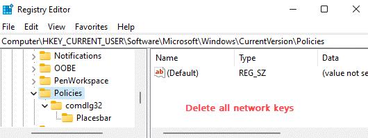 Delete Network Locations Min