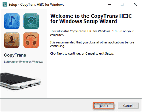 Setup Copy Trans Min