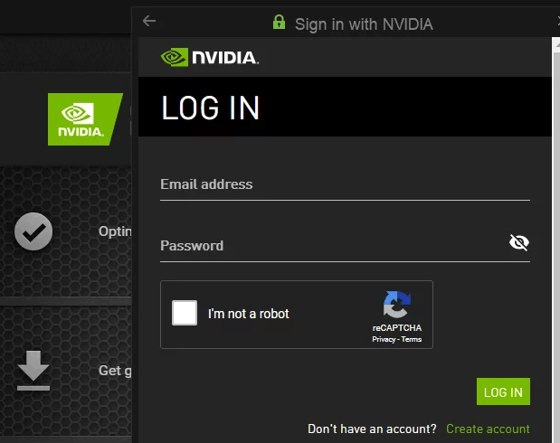 Sign In With Nvidia Experience Min