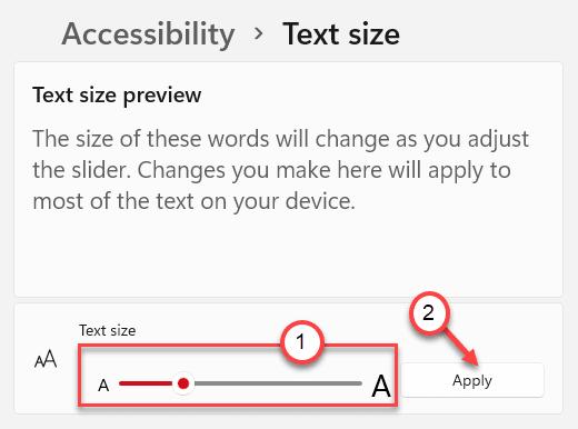 Size Text Min