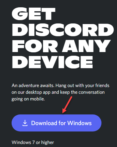 Visit Discord Download Page Download For Windows Min