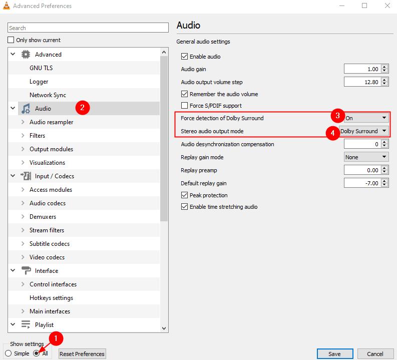 Advanced Preference Audio Settings Min