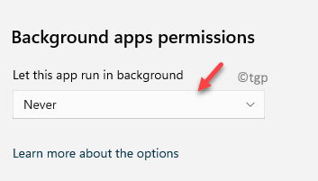 Background Apps Permissions Never Let This App Run In The Background