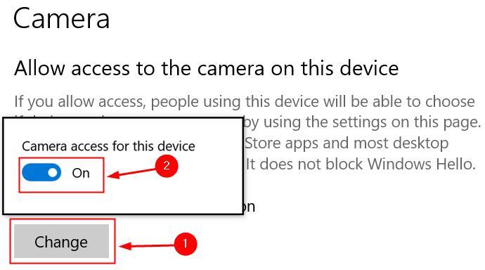 Change Camera Settings Min