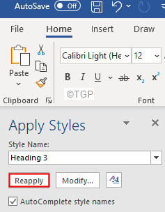 Click On Reapply