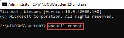 Command Prompt Run Command To Let Pc Boot Normally Enter