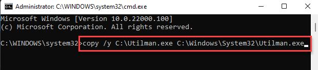 Command Prompt Run Command To Revert To Original Program Enter