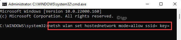 Command Prompt (admin) Run Command To Create Ssid And Key Enter