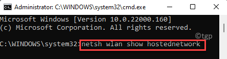 Command Prompt (admin) Run Command To Show Information With Created Hosted Network Enter