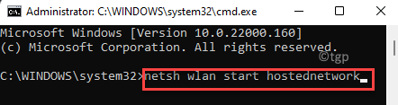 Command Prompt (admin) Run Command To Start Hosted Network Enter