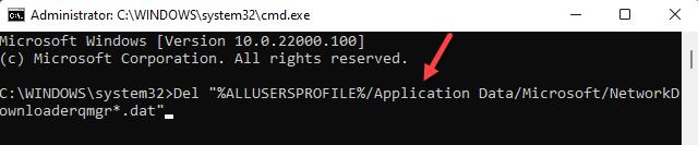 Command Prompt (admin) Run Command To Delete Qmgr.dat Files Enter