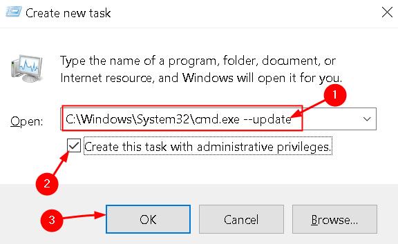 Create New Task With Update Cmd Min