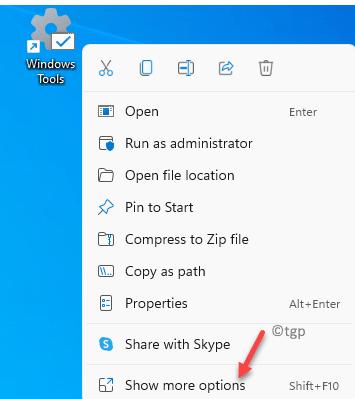 Desktop Windows Tool Shortcut Right Click Show More Options Min