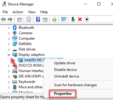 Device Manager Display Adapters Driver Right Cick Properties Min