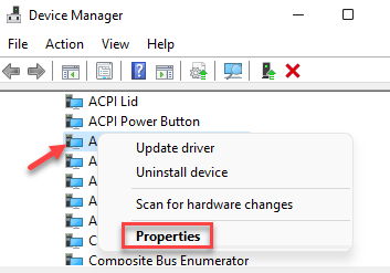 Device Manager System Devices Amd Audio Coprocessor Right Click Properties