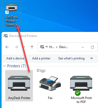 Devices And Printers Drag And Drop Desired Printer To The Desktop Min
