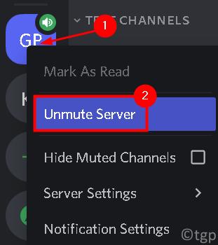 Dicord Server Unmute Server Min