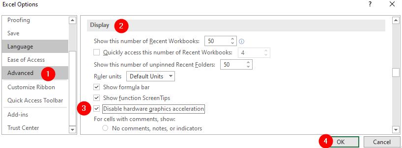 Disble Harware Graphic Acceleration Min