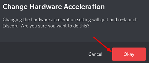 Discord Confirm Change Hardware Acceleration Min