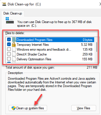 Disk Clean Up Files To Delete Select The Files You Want To Delete Clean Up System Files Min