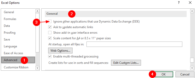 Excel Options Min