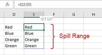 Excel Spill Error Spill Range