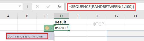 Excel Spill Error Range Is Unknown