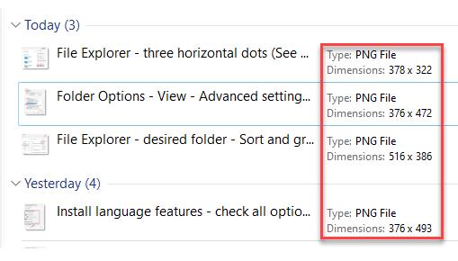 File Explorer Desired Folder Separate File Type Column