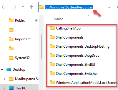 File Explorer Navigate To Systemresources Select All Files Delete