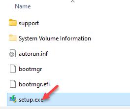 File Explorer Navigate To Windows Bt Path Run Setup.exe File