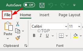 File Menu Option