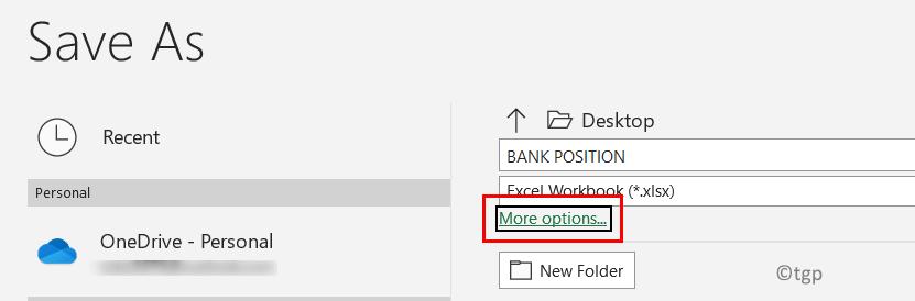 File Menu Save As More Options Min