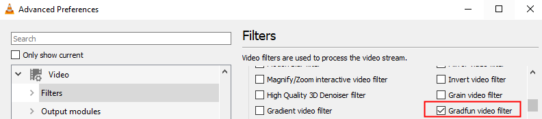 Gradfun Video Filter