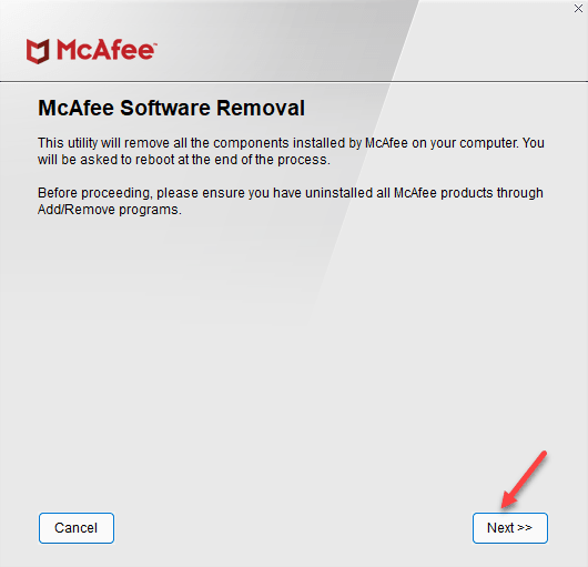 Mcafee Removal Tool Next Min