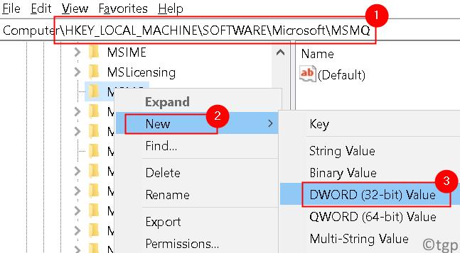 Microsoft Msmq New Dword Min