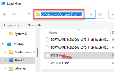 Navigate To Config Folder System Double Click