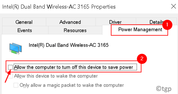 Network Adapter Power Management Min