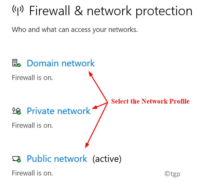 Network Profile Selection Min