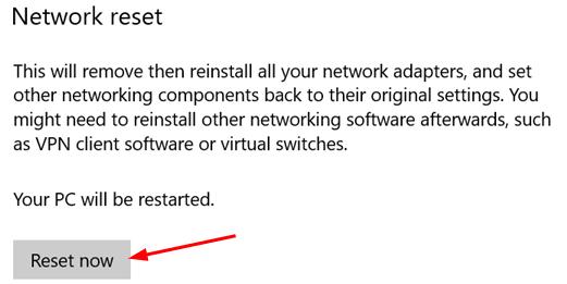 Network Reset Click Min