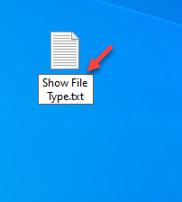 New Text Document Rename Document Desired Name Show File Type