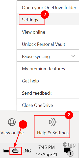 Onedrive Settings Taskbar Min