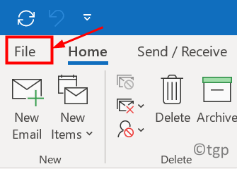 Outlook File Menu Min