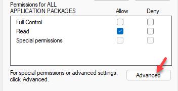 Permissions Advanced