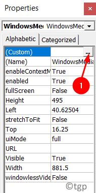 Player Properties Custom Min