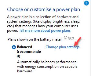 Power Options Change Plan Settings Min