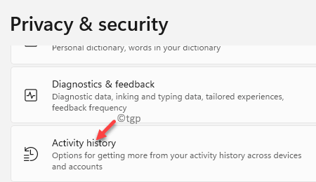 Privacy & Security Activity History Min