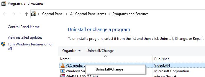 Programand Featureswindowe